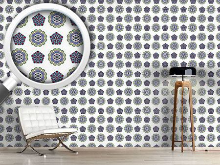Pattern Wallpaper Crystal And Floral