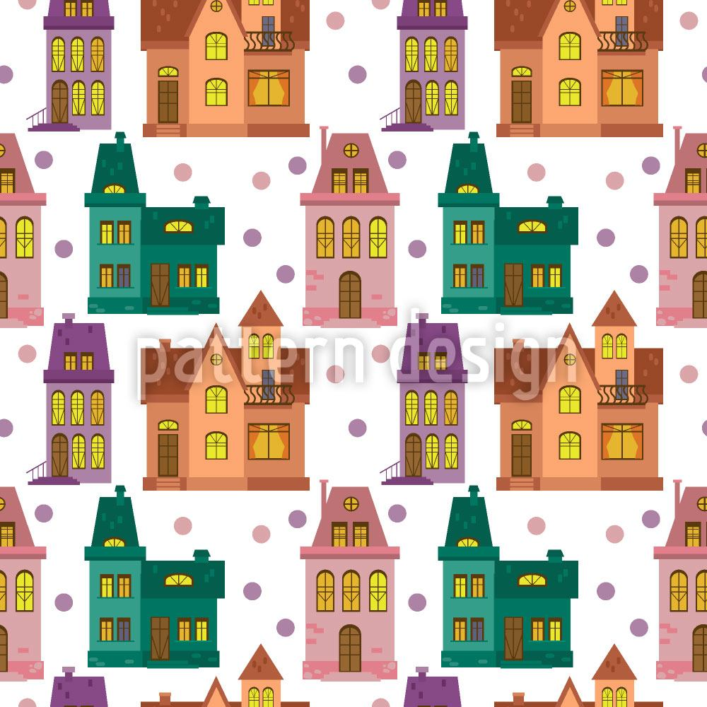 Pattern Wallpaper Townhouse