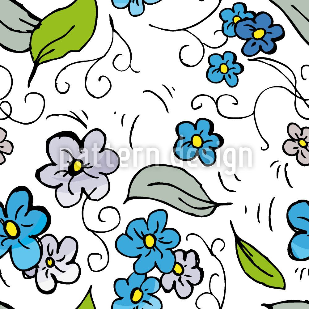 Pattern Wallpaper Flowers in the Meadow
