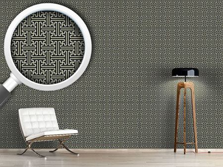 Pattern Wallpaper Asian Lattice Weave