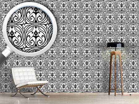Pattern Wallpaper Loretta Black White