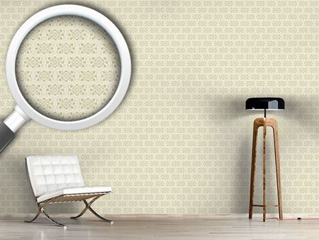 Pattern Wallpaper Beige Royal