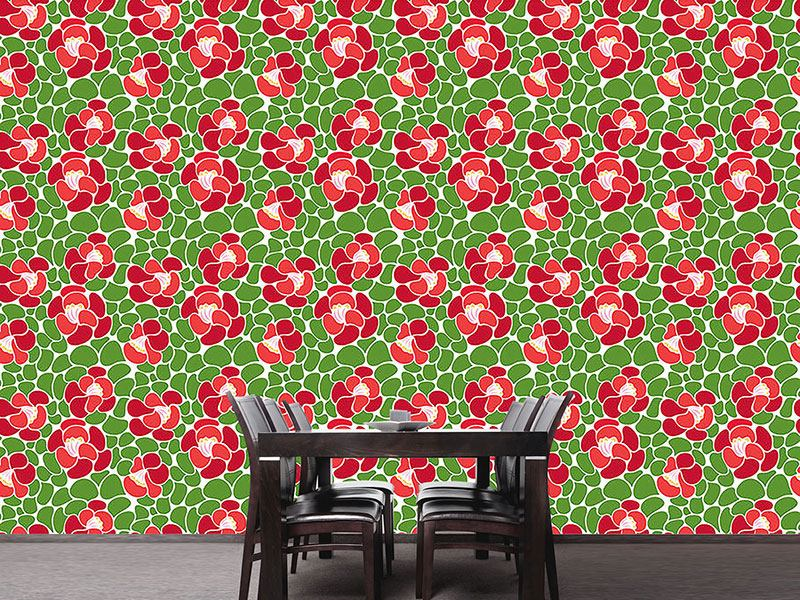 Pattern Wallpaper Spring Petals
