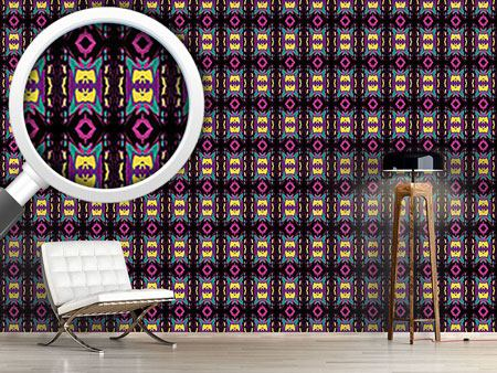 Pattern Wallpaper Ultrasonic Neon