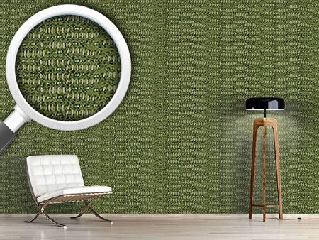 Pattern Wallpaper Reptilio Green