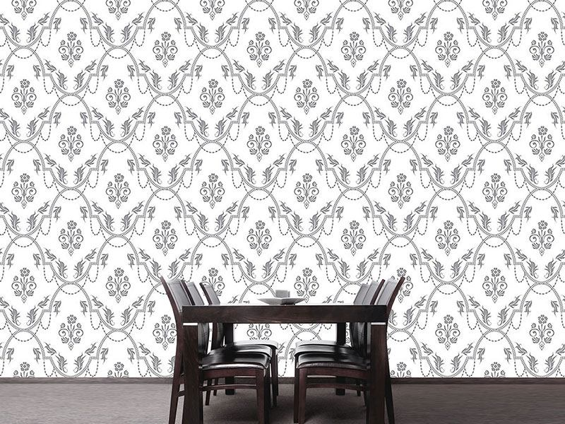 Pattern Wallpaper Rocko Bianco