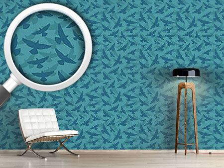 Pattern Wallpaper Dove Blue