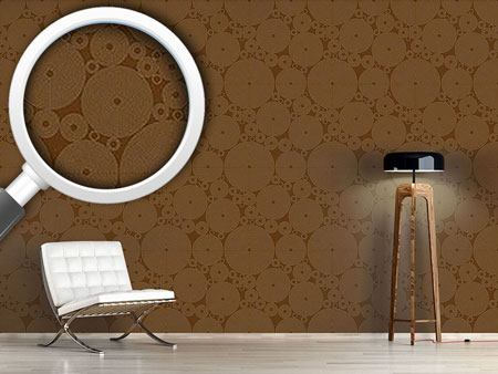 Pattern Wallpaper Outlined Circles