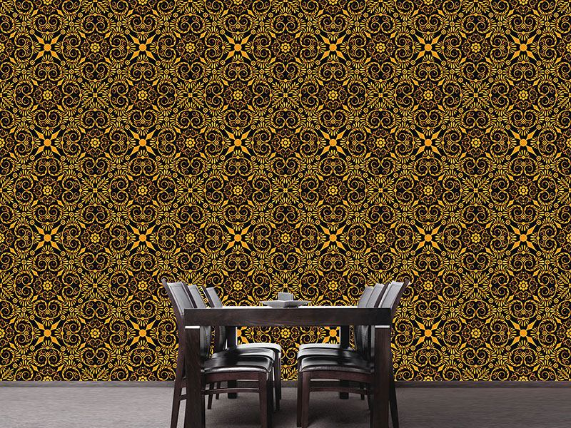 Pattern Wallpaper Opulenta Orange