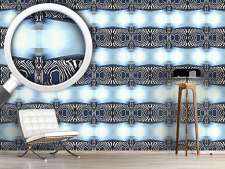 Pattern Wallpaper Zebra Light