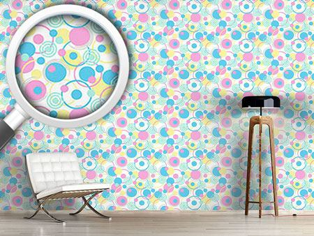 Pattern Wallpaper Circle Dreams In Pastel