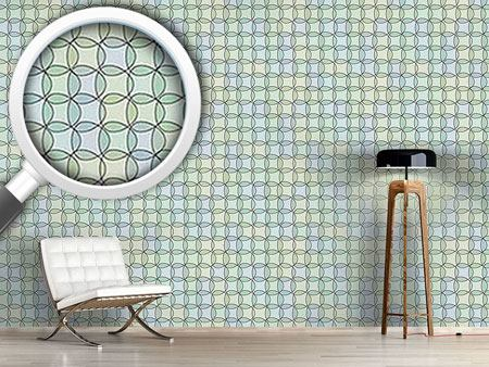Pattern Wallpaper Triangles In Watergreen
