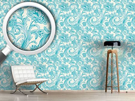 Pattern Wallpaper Magic Spell Of Crystal Flowers
