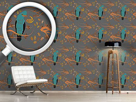 Pattern Wallpaper Peruvian Paradise Bird