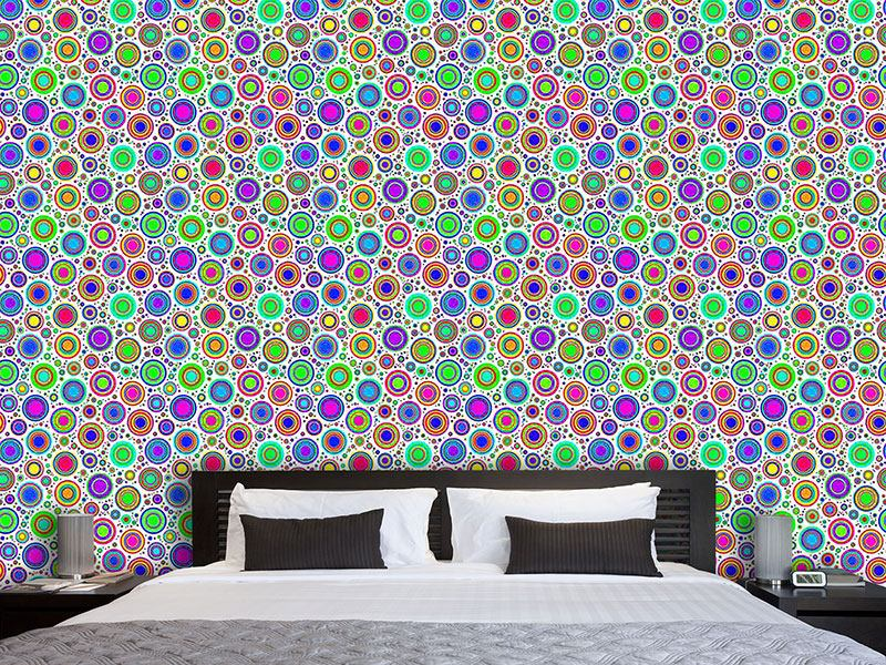 Pattern Wallpaper Neon Bubbles