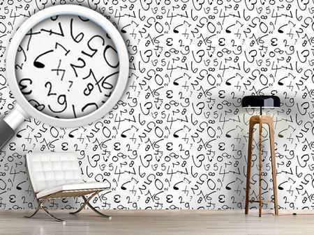 Pattern Wallpaper Counting Numbers