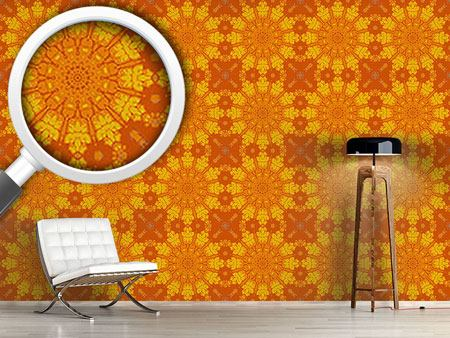 Pattern Wallpaper Gothic Sun Wheel