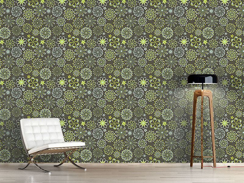 Pattern Wallpaper Flowers Of Natural Science