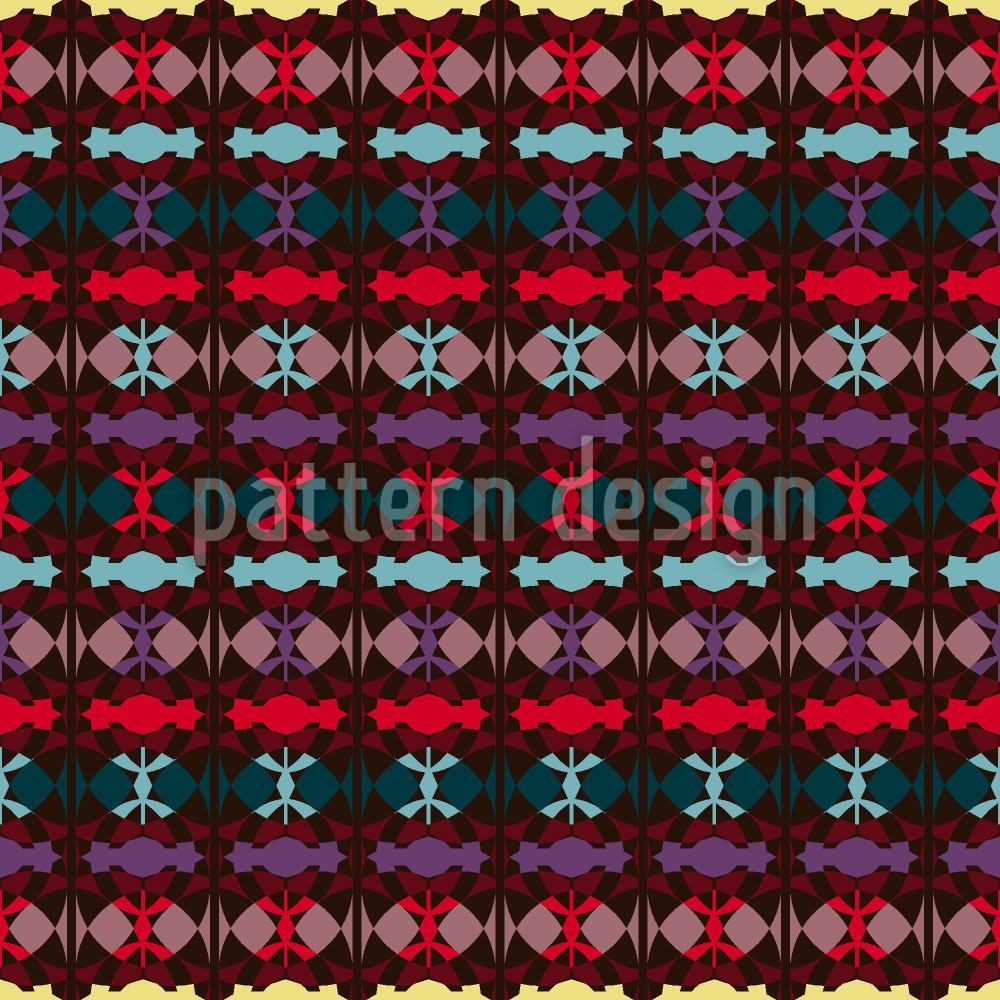 Pattern Wallpaper Ethno Deco