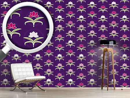 Pattern Wallpaper Tender Lilies