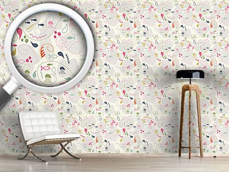 Pattern Wallpaper Pinky Planktons Patchwork