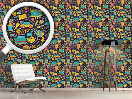 Pattern Wallpaper Funny Leisure Time At Night