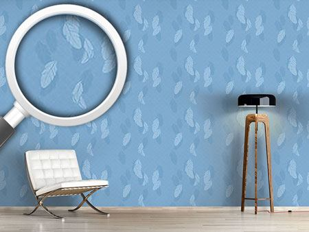 Pattern Wallpaper Gentle Feathers