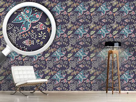 Pattern Wallpaper Polynesian Fauna