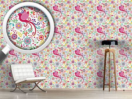 Pattern Wallpaper The Bird Queen In Summer