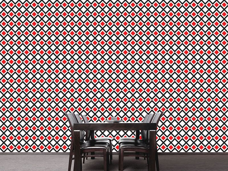 Pattern Wallpaper Skewed Squares