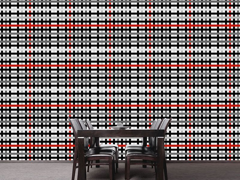 Pattern Wallpaper Modern Check