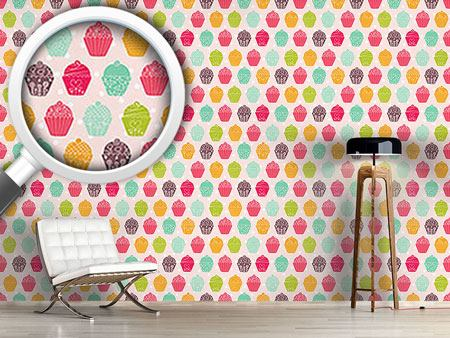 Pattern Wallpaper NY Cupcakes