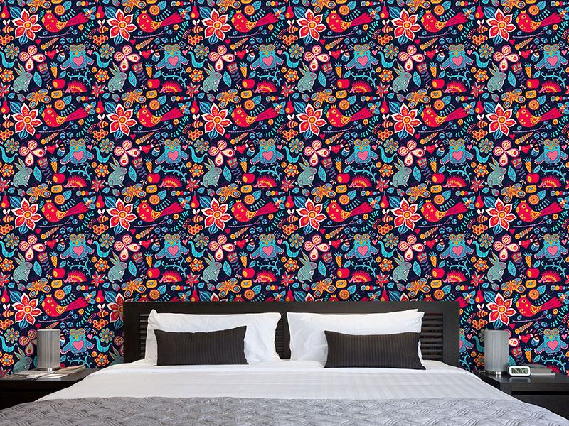 Pattern Wallpaper Night In The Magic Forest