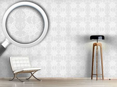 Pattern Wallpaper Lacy Blossoms