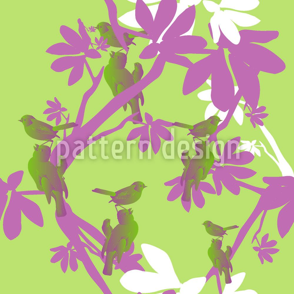 Papier peint design Birds En Vogue