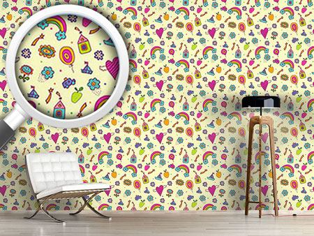 Pattern Wallpaper Sweet Nursery Dreams
