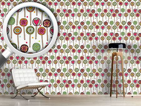 Pattern Wallpaper I Love Lollies