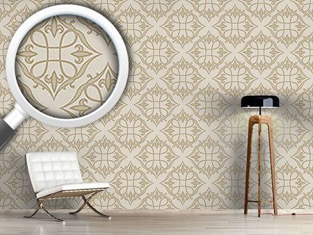 Pattern Wallpaper Renaissance In Beige