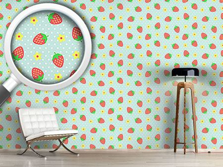 Pattern Wallpaper Strawberry Sundae