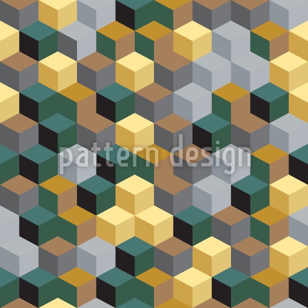 Pattern Wallpaper Grid Of Cubes