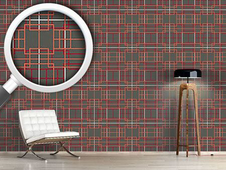 Pattern Wallpaper Asian Lattice