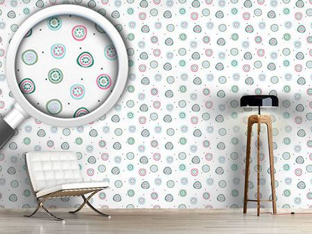 Pattern Wallpaper Flowers And Dots
