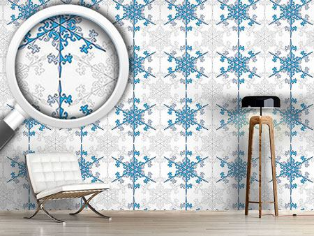 Pattern Wallpaper Snowflake Beauty