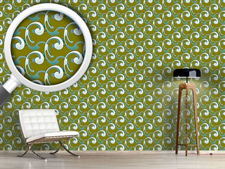Pattern Wallpaper Volutes Waves