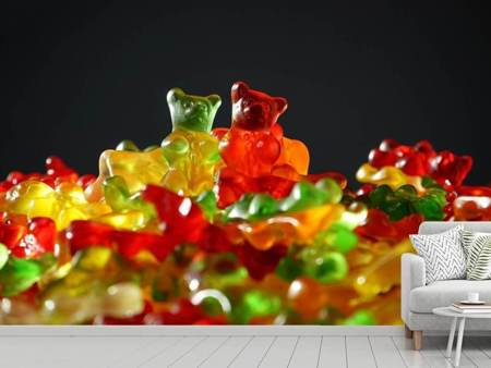 Photo Wallpaper Colorful gummy bears