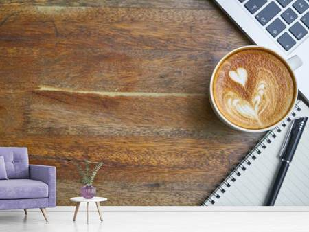Photo Wallpaper Coffee to work
