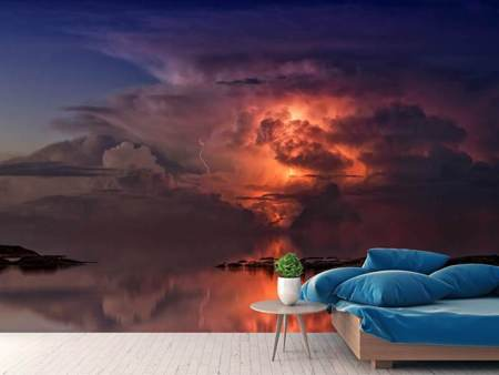 Photo Wallpaper Imposing thunderstorm