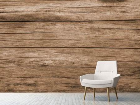 Photo Wallpaper Robust wooden wall