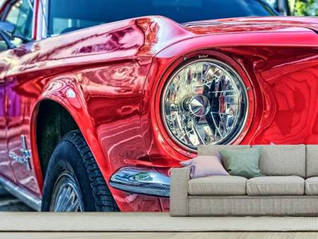 Photo Wallpaper Red vintage car