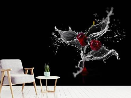 Photo Wallpaper Sparkling cherries